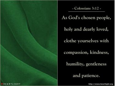 Illustration of the Bible Verse Colossians 3:12