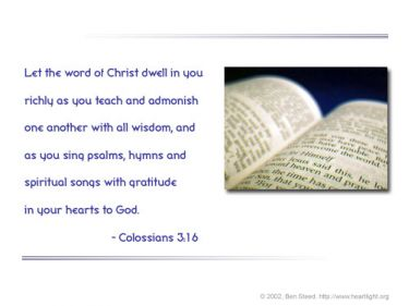 Illustration of the Bible Verse Colossians 3:16