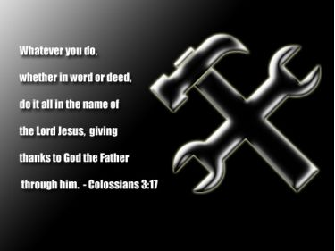 Illustration of the Bible Verse Colossians 3:17