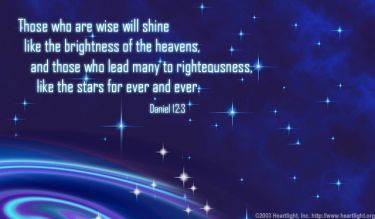 Illustration of the Bible Verse Daniel 12:3