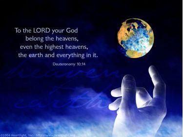 Illustration of the Bible Verse Deuteronomy 10:14