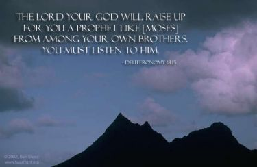 Illustration of the Bible Verse Deuteronomy 18:15
