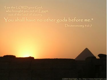 Illustration of the Bible Verse Deuteronomy 5:6-7