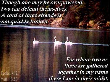 Illustration of the Bible Verse Ecclesiastes 4:12