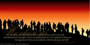 Illustration of the Bible Verse Ephesians 1:4-5