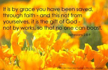 Illustration of the Bible Verse Ephesians 2:8-9