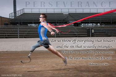 Illustration of the Bible Verse Hebrews 12:1 Perseverance