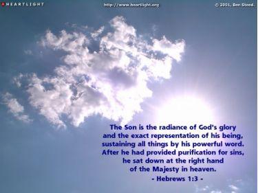 Illustration of the Bible Verse Hebrews 1:3