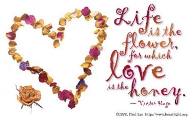 Illustration of the Bible Verse Life is a flower...