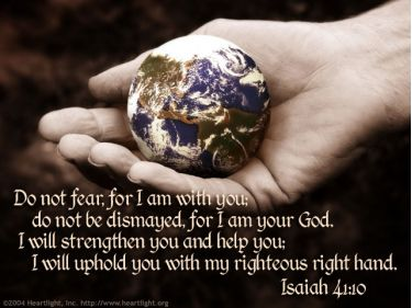 Illustration of the Bible Verse Isaiah 41:10-11