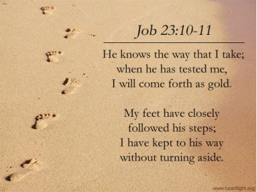 Illustration of the Bible Verse Job 23:10-11
