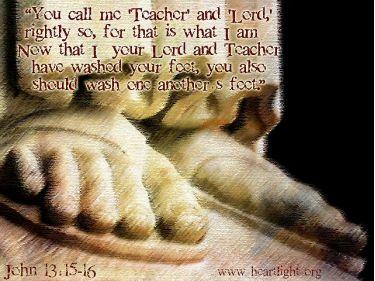 Illustration of the Bible Verse John 13:15-16
