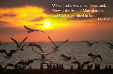Illustration of the Bible Verse John 13:31
