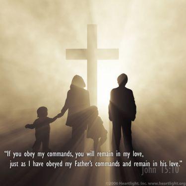 Illustration of the Bible Verse John 15:10