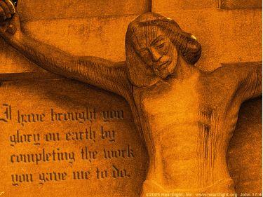 Illustration of the Bible Verse John 17:4
