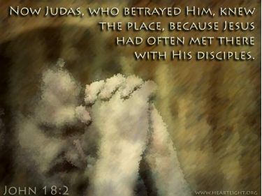 Illustration of the Bible Verse John 18:2