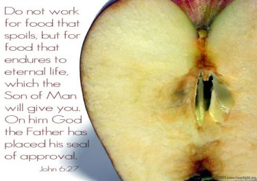 Illustration of the Bible Verse John 6:27