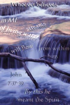 Illustration of the Bible Verse John 7:37-39