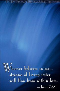 Illustration of the Bible Verse John 7:38
