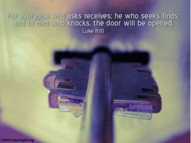 Illustration of the Bible Verse Luke 11:10