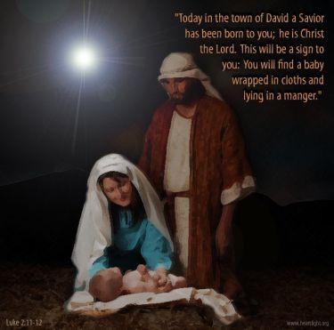 Illustration of the Bible Verse Luke 2:12