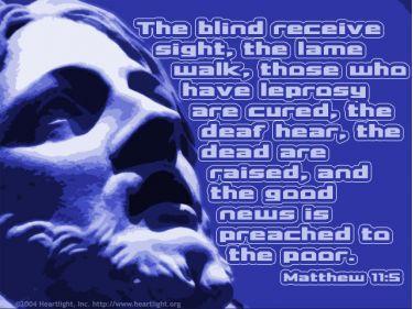 Illustration of the Bible Verse Matthew 11:5