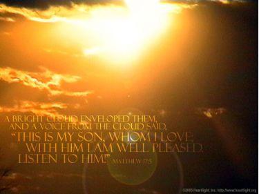 Illustration of the Bible Verse Matthew 17:5