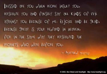 Illustration of the Bible Verse Matthew 5:11-12