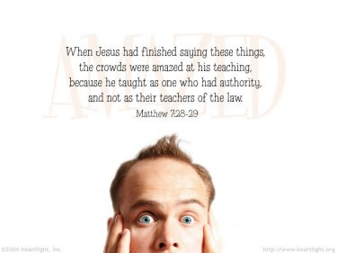 Illustration of the Bible Verse Matthew 7:28-29
