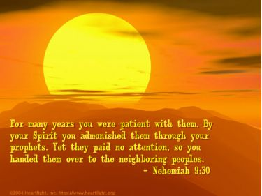 Illustration of the Bible Verse Nehemiah 9:30