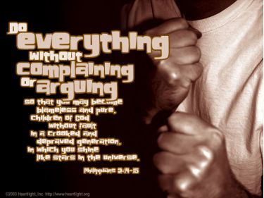 Illustration of the Bible Verse Philippians 2:14-15