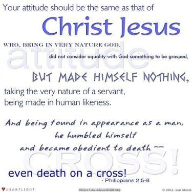Illustration of the Bible Verse Philippians 2:5-8