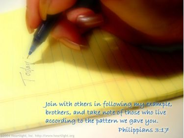Illustration of the Bible Verse Philippians 3:17