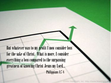 Illustration of the Bible Verse Philippians 3:7-8