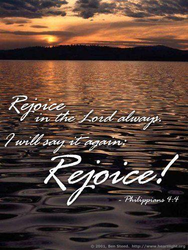 Illustration of the Bible Verse Philippians 4:4