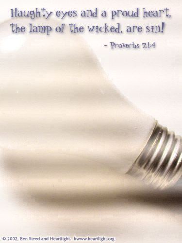 Illustration of the Bible Verse Proverbs 21:4