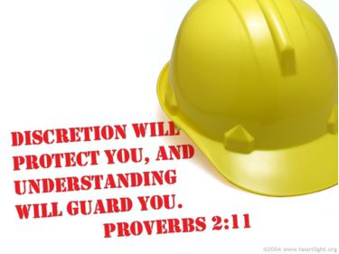 Illustration of the Bible Verse Proverbs 2:11