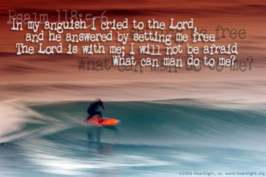 Illustration of the Bible Verse Psalm 118:5-6