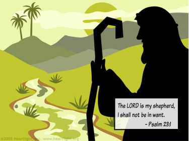 Illustration of the Bible Verse Psalm 23:1