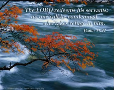 Illustration of the Bible Verse Psalm 34:22