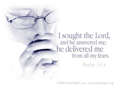 Illustration of the Bible Verse Psalm 34:4