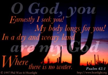 Illustration of the Bible Verse Psalm 63:1
