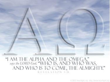 Illustration of the Bible Verse Revelation 1:8