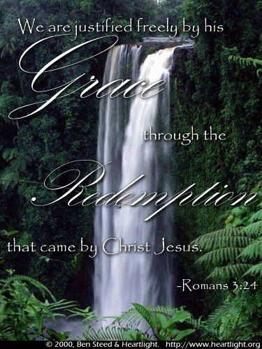 Illustration of the Bible Verse Romans 3:24
