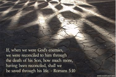 Illustration of the Bible Verse Romans 5:10