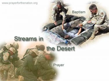 Illustration of the Bible Verse Streams in the Desert