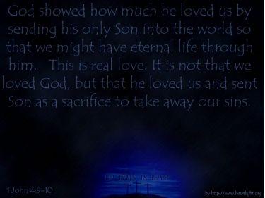 PowerPoint Background: 1 John 4:9-10