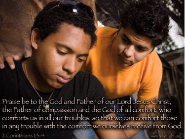 Illustration of the Bible Verse 2 Corinthians 1:3-4