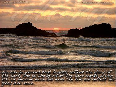 Illustration of the Bible Verse 2 Corinthians 3:18 Glory