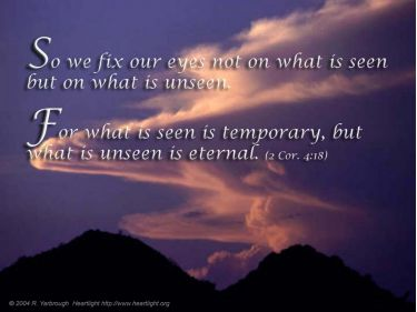 PowerPoint Background: 2 Corinthians 4:18